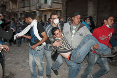 22 November 2011: New Clashes in Egypt Stock Photo