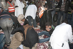 22 November 2011: New Clashes in Egypt Stock Images