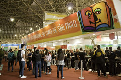 22 São Paulo International Book Biennial - Brazilië Stock Fotografie