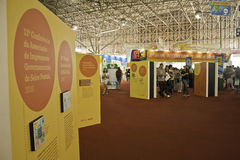 22 São Paulo internationaler BuchBiennial - Brasilien Stockbild