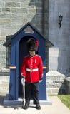 22's wacht in Citadelle in de Stad van Quebec Stock Afbeeldingen
