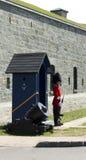 22's wacht in Citadelle in de Stad van Quebec Stock Fotografie