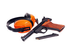 22 target pistol Royalty Free Stock Images