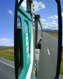 22 Wheeler drivers rear view Royalty Free Stock Photos