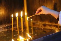 22 świeczki Obraz Stock