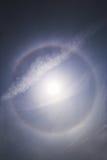 22 wokoło folowali halo słońce Zdjęcie Stock