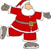 圣诞老人冰鞋 库存照片