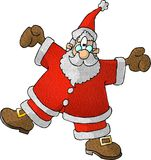 圣诞老人空转 向量例证