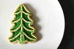 圣诞节曲奇饼糖结构树 库存照片