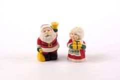 圣诞节胡椒盐瓶 免版税库存图片