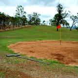 在内地高尔夫球 库存照片