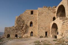 城堡karak废墟 免版税库存图片