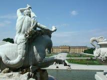 城堡schoenbrunn wien 免版税库存图片