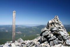 2272 Meter Erhebungzeichen Stockbild