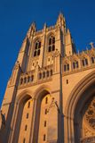 大教堂被日光照射了塔 库存图片