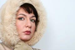 女孩纵向冬天 免版税图库摄影