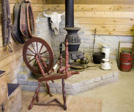 229 Old spinning wheel Royalty Free Stock Images