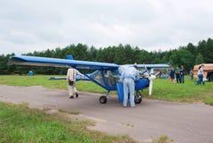 22l aeroprakt czek silnika pilota samolot Zdjęcia Stock