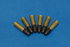 .22lr munitie Royalty-vrije Stock Foto