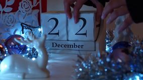 Free 22nd December Date Blocks Advent Calendar Royalty Free Stock Image - 106022856