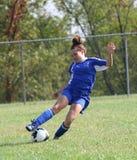 23个活动足球青少年的青年时期 免版税库存照片