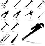 23 инструментов установленных иконами Стоковые Изображения