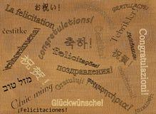 23 языков поздравлениям Стоковая Фотография