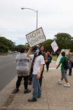 23 anti apec honolulu занимает протест Стоковое Изображение