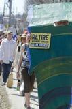23 april het protest van 2012 bij VT Yankee Kern Stock Afbeeldingen