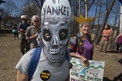 23 april het protest van 2012 bij VT Yankee Kern Royalty-vrije Stock Afbeelding