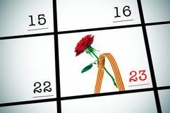 23. April, Sant Jordi oder der Rose-Tag in Katalonien Lizenzfreie Stockbilder