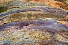 23 colored earth at la Vallee des Couleurs Royalty Free Stock Photos