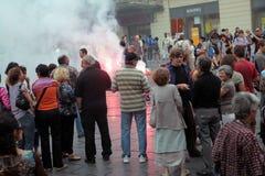23 demonstration montpellier offentliga september Royaltyfri Fotografi