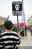 23 demonstration montpellier offentliga september Royaltyfri Foto