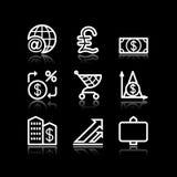 23 ikon się biały sieci Zdjęcia Stock