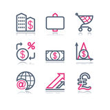 23 koloru konturowa ikon sieć Obraz Stock