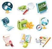 23 kreskówek ikony część szkoły setu stylu wektor Zdjęcia Royalty Free