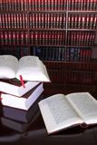 23 lagliga böcker Arkivbild