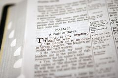 23 Psalm. The 23rd Psalm in soft focus Royalty Free Stock Images