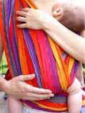 婴孩腹部布料 免版税库存照片