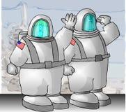 宇航员我们 皇族释放例证