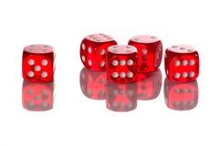 23446 kostka do gry czerwona rolka Obraz Stock