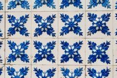 235 glasade portugisiska tegelplattor Royaltyfria Foton