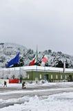 235 het Regiment van de opleiding meldt zich Italiaanse vlag aan Royalty-vrije Stock Fotografie
