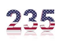 235 jaar van Amerikaanse Onafhankelijkheid Royalty-vrije Stock Afbeelding