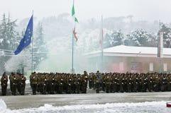 235 volontaires s'exerçants Piceno de régiment Photographie stock libre de droits