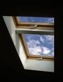 对视窗的天空 免版税库存图片