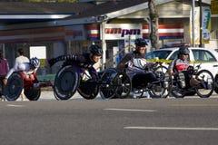 23ro Sillón de ruedas del maratón de Los Ángeles Foto de archivo libre de regalías