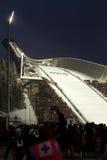 24个c 2月fis北欧挪威奥斯陆滑雪世界 免版税库存照片