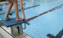 24池游泳 库存图片